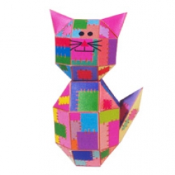 Patches the Cat: A Print-and-Build Paper Sculpture Kit