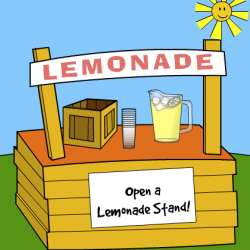 how to set up a lemonade stand