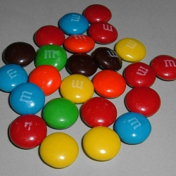 Radioactive dating lab with m&ms history