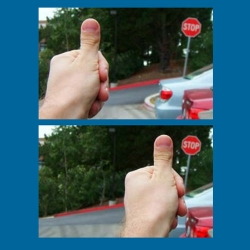 Experiencing Parallax With Your Thumb