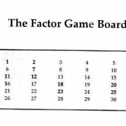 Number Systems and Number Theory: Factor Game