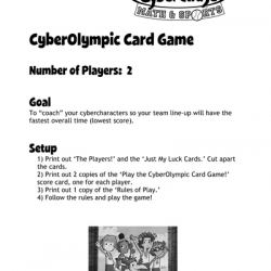 CyberOlympic Card Game