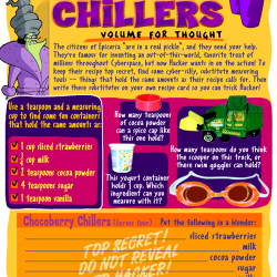 Chocoberry Chillers: Volume for Thought